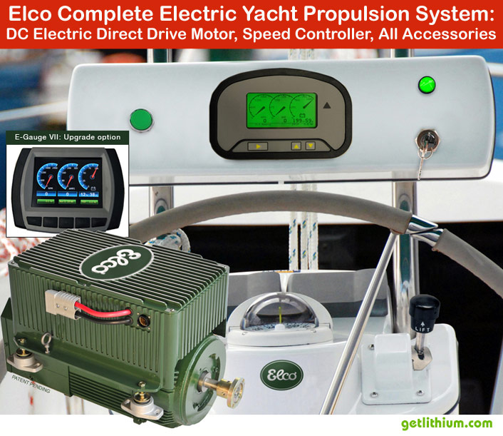 Elco electric marine propulsion plug and play sustem