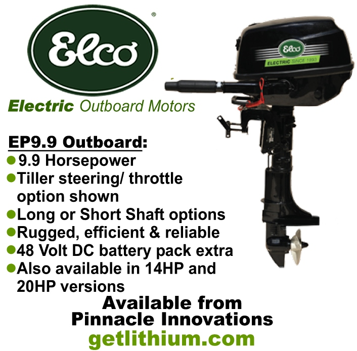 Elco Motor Yachts 9.9hp electric outboard marine motor