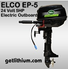 Click here for the Elco EP-9.9RL high efficiency electric outboard marine propulsion motor