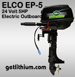 Elco 5 horsepower electric boat motor