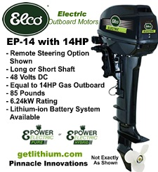 Click here for more information on this Elco electric outboard motor...