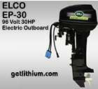 Click here for the Elco EP-20 high efficiency electric outboard marine propulsion motor