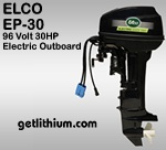 Elco 30 horsepower 96 Volt electric outboard marine engine