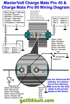 Click here for a larger MasterVolt Charge Mate Pro Wiring Diagram