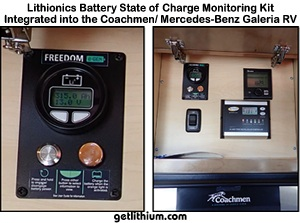 Click here for a larger image of the Lithionics State of charge Monitoring Kit integrated with the Mercedes-Benz Galeria Sprinter van system