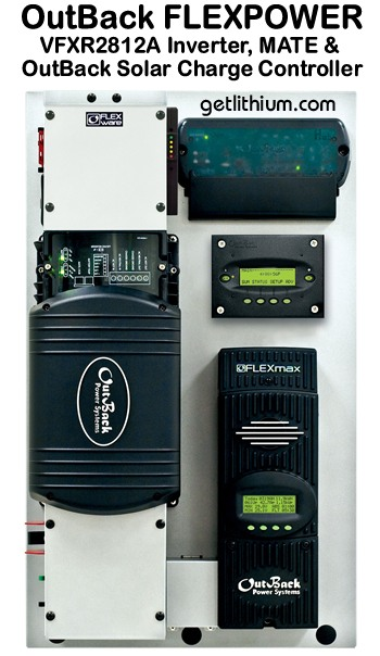 Click here for a larger image of this OutBack Power VFX 2812 Inverter Charger for off-grid and solar power systems