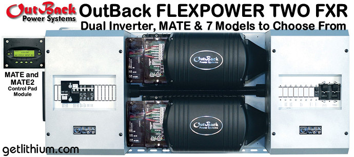 Outback Power FLEXpower Two Single Inverter electrical system