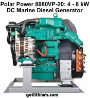 Polar Power DC output diesel electricity generators for hybrid electric systems for RV, Marine, Cabins, Residential, Commercial and Canadian Oil and Gas Industry Drilling and Pipeline Projects utilizing Solar and Wind Power.
