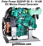 Polar Power DC marine diesel generators - extreme efficiency