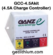 Ganz solar charge controller for RV, Marine and more...