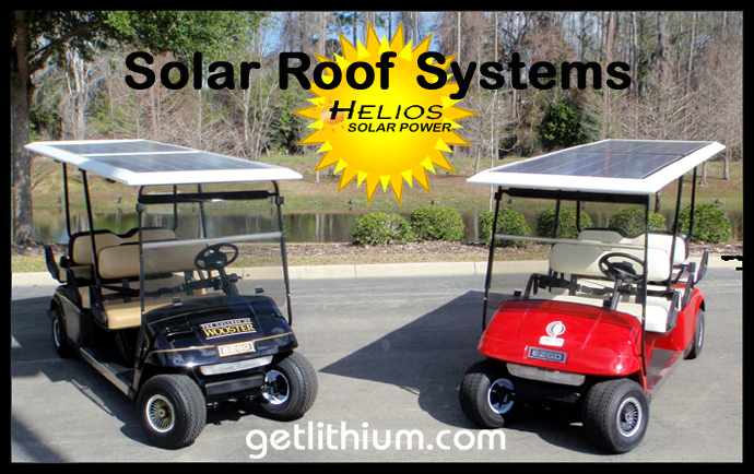 Solar Roof Systems for Electric Golf Carts and Low Speed Vehicles/ Neighborhood Vehicles