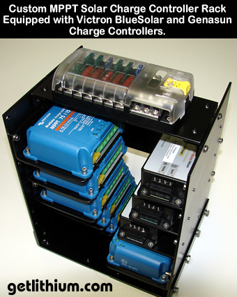 Click on the solar charge controller rack for a larger image