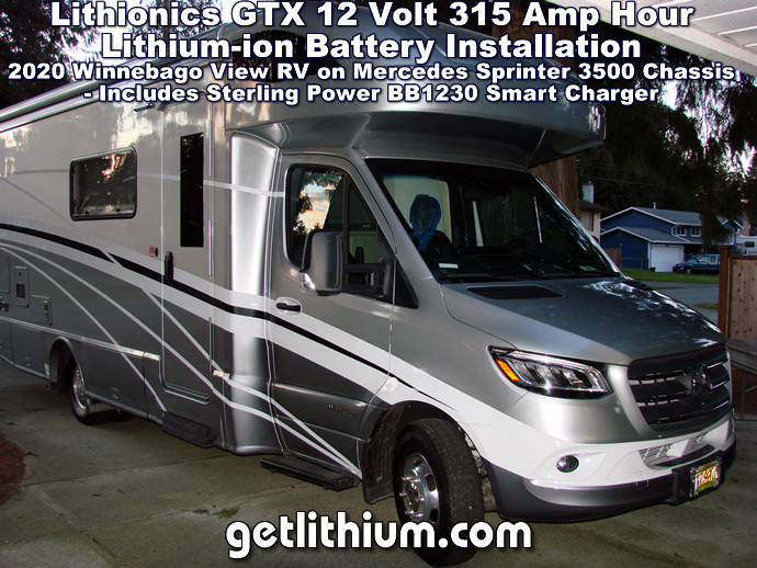 2020 Winnebago View 24D RV Lithionics lithium-ion battery installation and upgrade