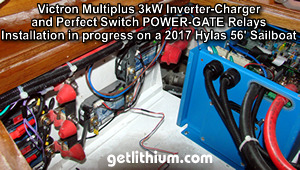 Victron Energy MultiPlus 3kW 24 Volt Dc inverter-charger installation with Perfect Switch POWER-GATE rectifier isolators